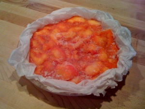 peaches in pie